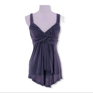 2/30 NY&CO Women's Dressy Camisole Gray Shirt S